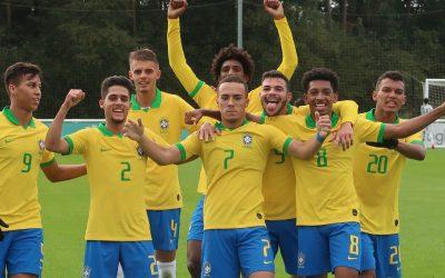 Joia do Inter, Peglow marca golaço e encerra amistosos do Brasil na Inglaterra como o principal artilheiro da seleção sub-17