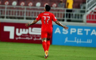 Dudu celebra gol e vitória do Al Duhail no Campeonato Catari