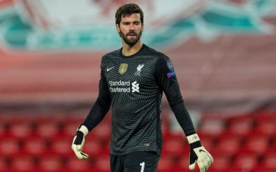 """Alisson comemora classificação """"zerada"""" do Liverpool para as quartas da Champions: """"Importante para nos dar confiança"""""""