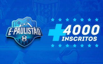 E-Paulistão bate quatro mil inscritos e terá fase de grupos transmitida via streaming