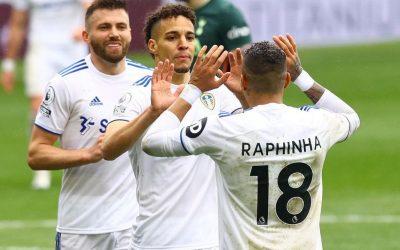 Maior garçom brasileiro na Premier League, Raphinha volta de lesão dando mais uma assistência e ajuda Leeds a derrotar o Tottenham por 3 a 1
