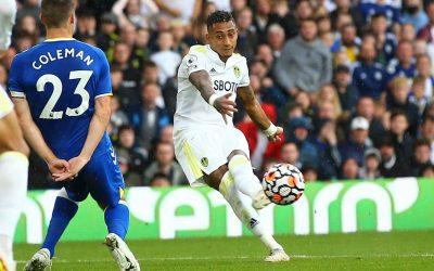 Após convocação para a Seleção, Raphinha marca belo gol e garante empate do Leeds na Premier League